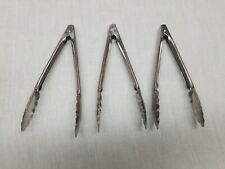 Vollrath tongs 7 Inch set of 3 catering kitchen stainless steel mini appetizer