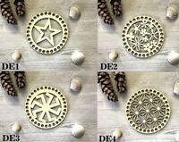 Wooden Crochet Base + DESIGNED Top 15CM dia for сrochet baskets