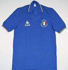 1983-1984 ITALIA LE COQ SPORTIF Calcio Casa Maglietta (Taglia M)