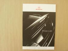 Honda. PRICE LIST .brochure 1998.Integra R. NSX.