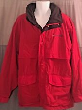 Tri Mountain Jacket Coat Lined Hooded Vented Back Red Winter Men's Lg
