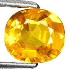 1.88ct Natural Oval/Cushion-cut Excellent-luster Yellow VVS Sapphire (Sri Lanka)