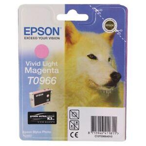 Genuine Epson T0966 Vivid Light Magenta Ink Cartridge for Photo R2880