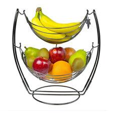 Fruit Basket Bowl Vegetable Rack Storage Stand Holder Apple Orange Bowl