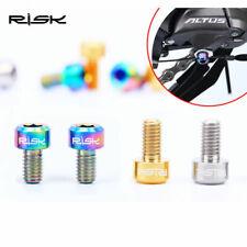 2pcs M5x9mm MTB Bike Titanium Alloy Head Bolt Screw Wire Diverter Housing Bolts