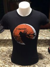 JAGERMEISTER Woman's T SHIRT. Elk Howling Size Large NWOT. New. Free Shipping