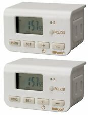 Woods 50007 Indoor Digital Lamp Timer, Daily Settings, 2-Pack , New, Free Shippi
