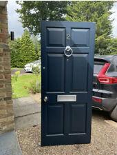 External Solid Wood Front Door / Entry Door with Silver Hardware