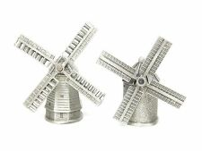 Collectible Sewing Thimble Lot Pewter Farm Windmill Moving Spinning Turning (5)