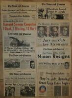 Vintage 1968-1981 Newspaper Lot Whole, Covers & Clippings Nixon RFK Carter Elvis