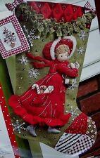 "Bucilla ""HOLLY HOBBIE DAYS"" Felt Christmas Stocking Kit -Girl OOP New 86144 RARE"