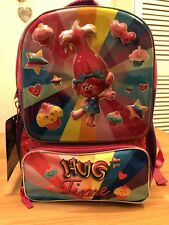 Dream Works Trolls Hug Time 3D Backpack! New! Only