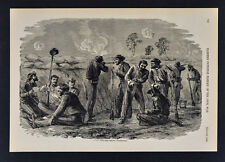 Harpers Civil War Print - Soldiers in Trenches before Petersburg Battle Field