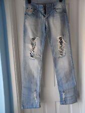 "Diesel men`s light blue tatty jeans waist size 30"""
