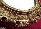 Specchio Parete BAROCCO Oggetto d'antiquariato 345 W ORO 45x38 Ovale bagno 2