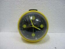 Réveil boule jaune et noir KIPLE, vintage années 70