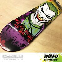"WIRED(TM) Skateboard Deck 8"" High Gloss Joker (Grip Tape Applied)"