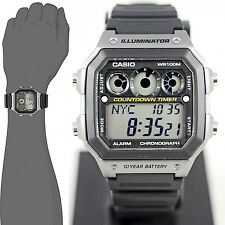 Casio AE-1300WH-8AV Men's Watch 9 Timers 10 Year Battery World Time 5 Alarms New