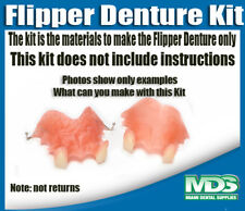 Flipper Denture Kit Upper and Lower Set (NO INSTRUCTIONS)
