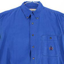 BUGLE BOY COMPANY BBC ROYAL BLUE L/S TWILL Button Shirt Men's S SMALL