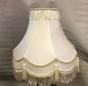 "FULLY LINED CREAM/GOLD TABLE LAMP SHADE 10"" 12"" 14"" 16"" 18"" 22"" Cream Shade"