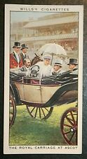 ROYAL ASCOT 1925    Royal Carriage   Vintage Illustrated Colour Card