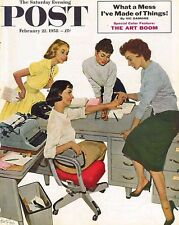 The Saturday Evening Post February 22 1958 Kurt Ard Vintage Americana