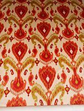 2 1/4Y new Schumacher Tashkent Velvet Ikat in Jewel colors large printed design