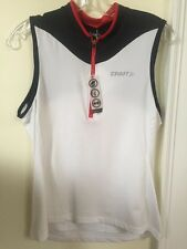 New Women's Craft Active Bike Jersey Sleeveless Size Large White w/black trim