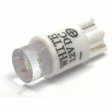 White 12v 10mm T10 Wedge Base LED Bulb for Arcade Push Buttons - MAME, JAMMA