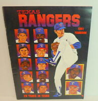 1991 Texas Rangers Nolan Ryan MLB Baseball Team YEARBOOK