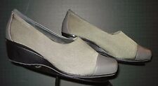 Women's Aetrex Essence Gray Stretch/Leather Cap Toe Loafer Sz. 9CD MINTY!