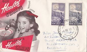 NZFD58) NZ 1954 Buy Health Stamps for Children's Health Camps