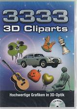 3333 3D Cliparts - Hochwertige Grafiken in 3D-Optik - *NEU*