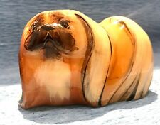 Pekinese Figur Hund Exklusive Steinmetzarbeiten aus Russland Handarbeit