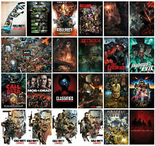 Call of Duty Zombies Posters Treyarch Zombies Video Game Print Home Decor Room