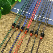 HandWoven Braided Agate Beads String Leather Rope Cord Pendant Necklace5/Colours