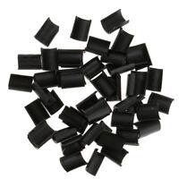 50 Pieces Hair Extension Keratin Bonding Glue Fusion Nail U Tips (Black)