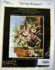 """Artecy Counted Cross Stitch Kit """"Spring Bouquet"""" 14"""" x 17"""""""