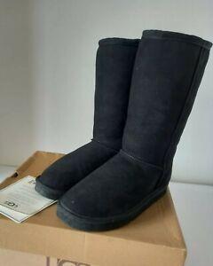 Ugg Womens Classic Boots,mid calf length,Black,UK Size 5