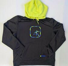 AND1 Hoodie Pullover Sweatshirt Size MEDIUM Black and Neon Yellow Basketball