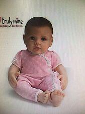 So Truly Mine Dark Brown  Hair Blue Eye Girl Baby Doll by Ashton Drake NRFB