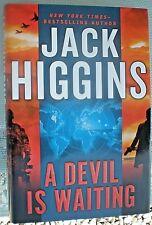 A DEVIL IS WAITING Jack Higgins 1st Edition 2012 Espionage Hardcover & Jacket