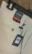 Mens Chaps Stretch your Limits flat front shorts size 36 Stone