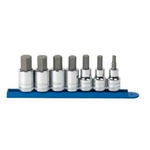 """GEARWRENCH 80720 3/8"""" AND 1/2"""" DRIVE METRIC HEX BIT SOCKET SET 7 PC"""