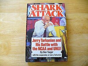 "Book - ""Shark Attack"" - Jerry Tarkanian - 1992 - Hardcover - (1st edition) - EX"