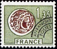 "FRANCE PREOBLITERE TIMBRE STAMP N°137 "" MONNAIE GAULOISE 1F35 VERT"" NEUF xx TTB"