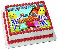 BANANAS IN PYJAMAS REAL EDIBLE ICING CAKE TOPPER PARTY IMAGE FROSTING SHEET
