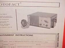 1963 RAYTHEON CB RADIO SERVICE SHOP MANUAL MODEL RAY-TEL TWR-2