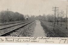 The Limited Railroad Train Rounding The Curve in Rosemont PA 1907